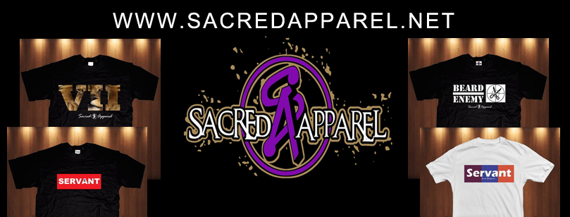 saccred apparel banner copy